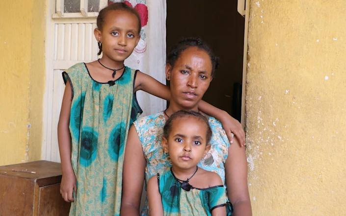 Due to Covid, Almaz* had to quit her job and her husband's salary is not enough to cater for their needs. The family is food insecure and has been supported by Save the Children with cash and free health services - Seifu Asseged/Save the Children