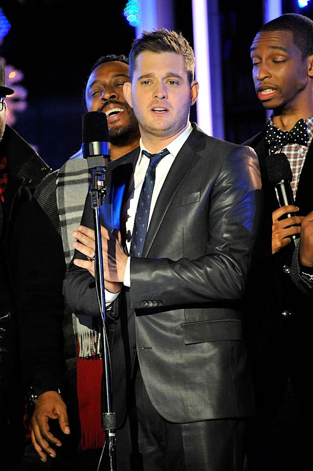 Crooner Michael Buble, who recently released a new holiday album appropriately titled <i>Christmas</i>, was one of the singers tapped to perform at the event. (11/30/2011)