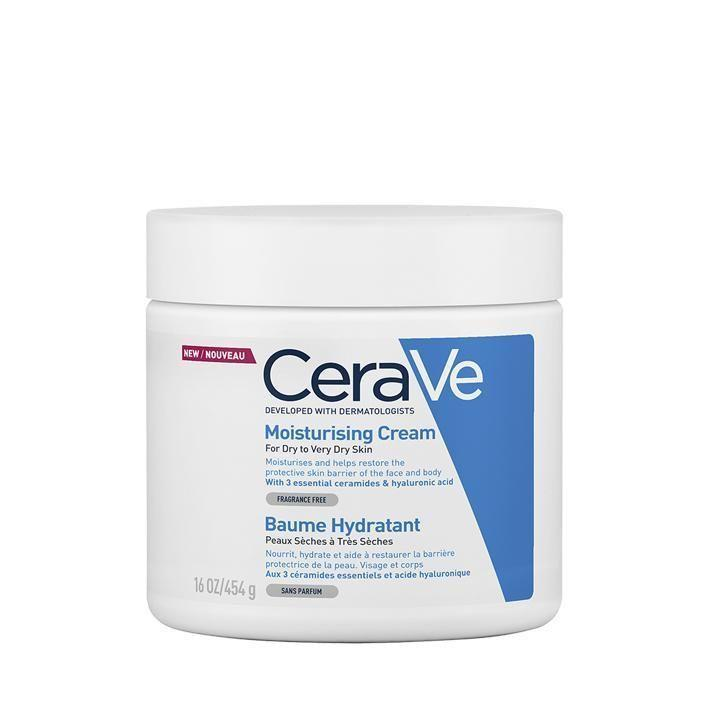 """<p><a class=""""link rapid-noclick-resp"""" href=""""https://www.amazon.co.uk/CeraVe-Soap-Moisturizing-Cream-454/dp/B07CHPWFXK"""" rel=""""nofollow noopener"""" target=""""_blank"""" data-ylk=""""slk:SHOP"""">SHOP</a></p><p><strong>Best moisturiser for sensitive skin</strong></p><p>We put our skin through a lot - shaving, stress, erratic UK weather, to name a few factors - which is where this cult classic can help. It brought some much-needed comfort to testers' skin, helping relieve irritation while leaving it feeling pillow-soft. It didn't skimp on hydration either – scoring 7/10 in our lab test – but some might find the texture too thick.</p><p><strong>Key specs<br></strong><strong>Volume: </strong>340g<br><strong>Contains SPF: </strong>No</p><p>CeraVe Moisturising Cream, £16, Amazon.co.uk</p>"""