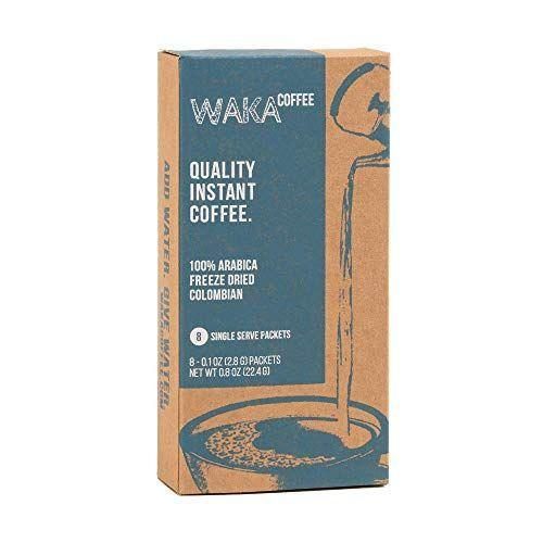 """<p><strong>Waka Coffee</strong></p><p>amazon.com</p><p><strong>$11.99</strong></p><p><a href=""""https://www.amazon.com/dp/B07JNJ8S23?tag=syn-yahoo-20&ascsubtag=%5Bartid%7C1782.g.33862216%5Bsrc%7Cyahoo-us"""" rel=""""nofollow noopener"""" target=""""_blank"""" data-ylk=""""slk:BUY NOW"""" class=""""link rapid-noclick-resp"""">BUY NOW</a></p><p>Waka is a truly impressive instant coffee. The individual pouches come with freeze-dried coffee chunks that smell like high quality coffee as soon as you open the pouch. They have good coffee taste, without the rubbery burn that cripples most instants. It's relatively mellow, inoffensive, with light fruit notes at the end of the cup. It's better than a diner coffee and on par with an airplane coffee, which i mean as as a big compliment since both of those coffees are brewed. I'll be keeping a few of these in my car for sure.</p>"""
