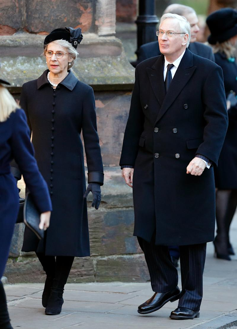 Birgitte, Duchess of Gloucester and Prince Richard, Duke of Gloucester attend a Memorial Service for Gerald Grosvenor