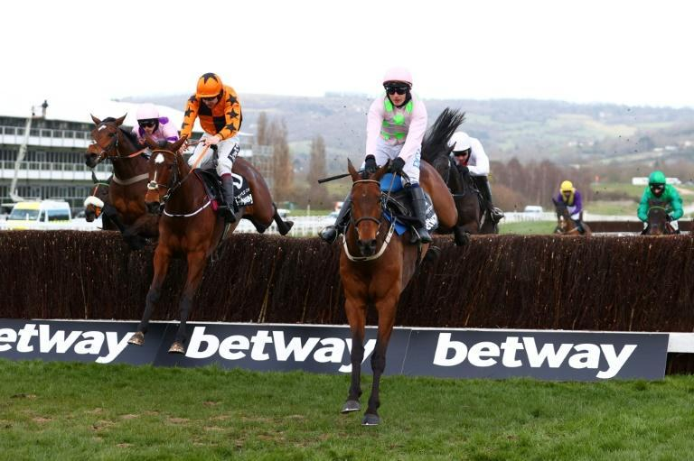 Put The Kettle On (left) won the Queen Mother Champion Chase at Cheltenham