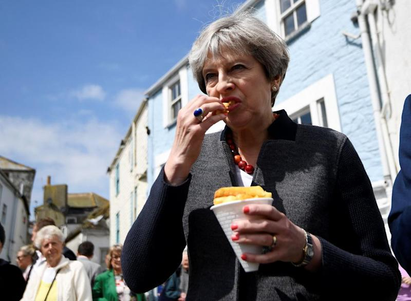 May takes a bite from a chip