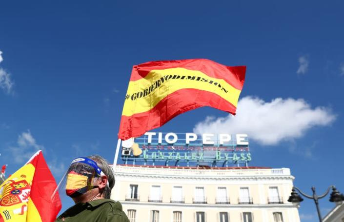 Protest against government in Madrid