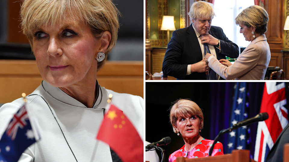 "Julie Bishop has criticised Trump, Xi and Johnson for exhibiting what she calls ""conditional leadership"". (Source: Getty)"
