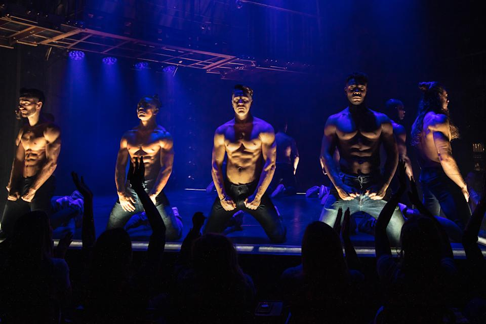 The cast of Magic Mike Live (Trevor Leighton/PA)