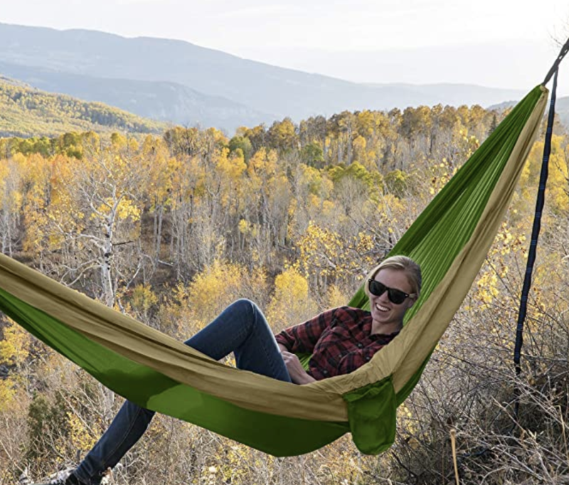 You'll have a blast with this two-person hammock. (Photo: Amazon)