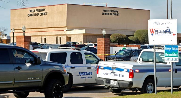 A gunman killed two people before being shot by a security officer at a church in White Settlement, Texas on December 29, 2019