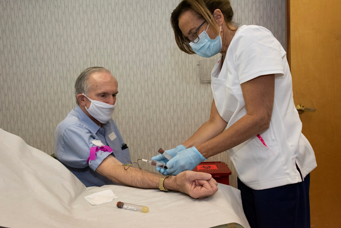 Volunteers such as Raymond Grosswirth are participating in a Phase 3 clinical trial for a possible COVID-19 vaccine.