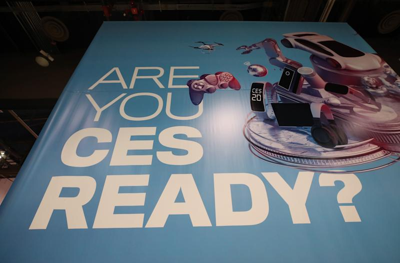 LAS VEGAS, NEVADA - JANUARY 05: A CES sign is displayed during exhibitor setups for CES 2020 at the Las Vegas Convention Center on January 5, 2020 in Las Vegas, Nevada. CES, the world's largest annual consumer technology trade show, runs from January 7-10 and features about 4,500 exhibitors showing off their latest products and services to more than 170,000 attendees. (Photo by Mario Tama/Getty Images)