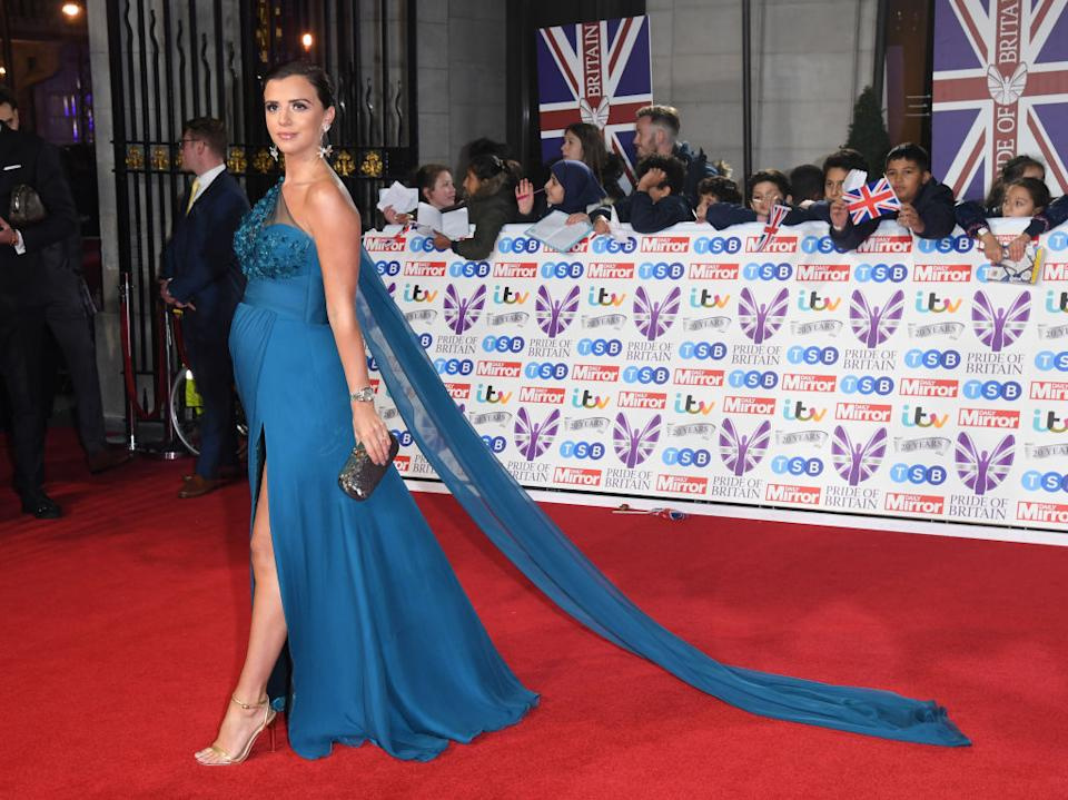 Lucy Meckleburgh has revealed she has been producing bright orange breast milk during her pregnancy [Photo: Getty]
