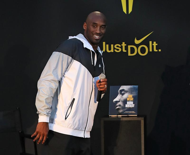 LOS ANGELES, CA - OCTOBER 23: Kobe Bryant attends as Nike celebrates the 30th anniversary of the 'Just Do It' campaign with a special appearance from Kobe Bryant at Nike The Grove for the release of his first book, 'The Mamba Mentality: How I Play.' on October 23, 2018 in Los Angeles, California. (Photo by David Livingston/Getty Images)