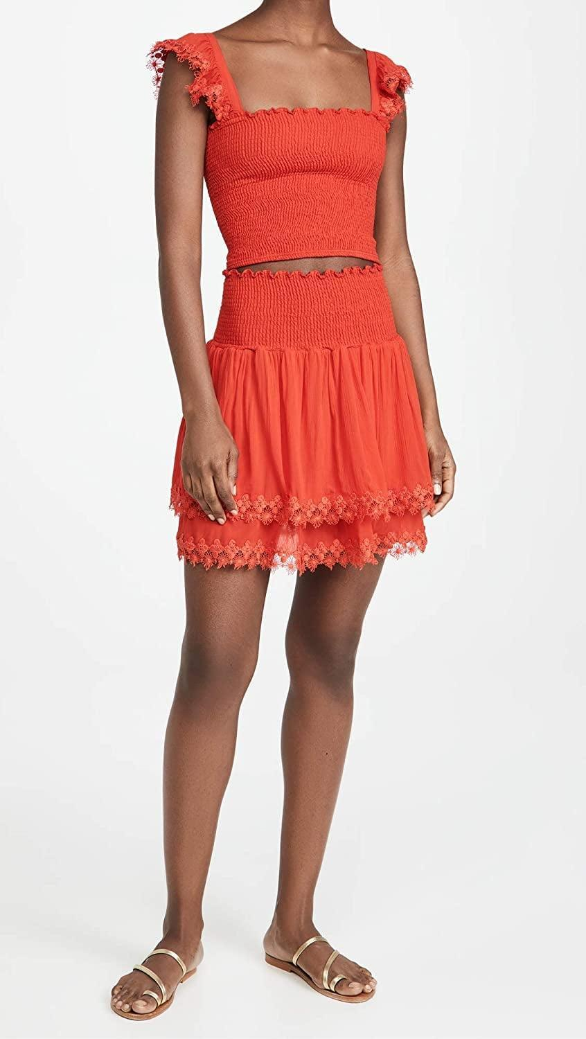 <p>You can rock this <span>Peixoto Belle Skirt</span> ($84-$92) with the matching top.</p>