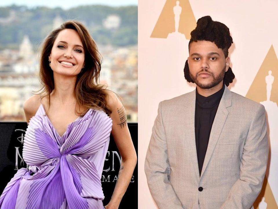 Fans react to reports Angelina Jolie and The Weeknd are dating (Getty)