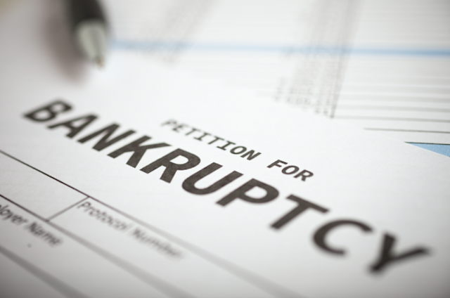 Filing bankruptcy with a court is the first step.