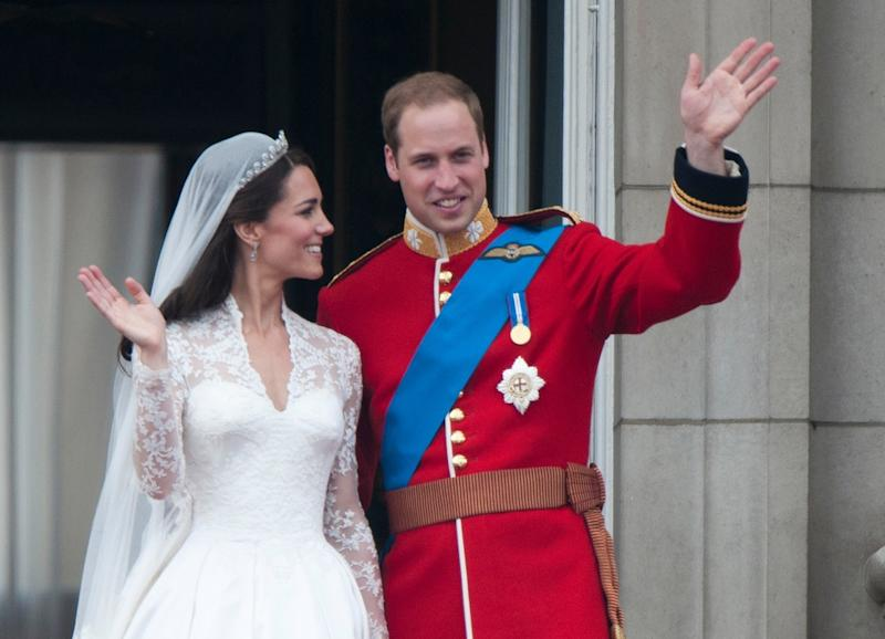 Prince William -- sans a wedding ring -- on his wedding day on April 29, 2011. (Mark Cuthbert via Getty Images)