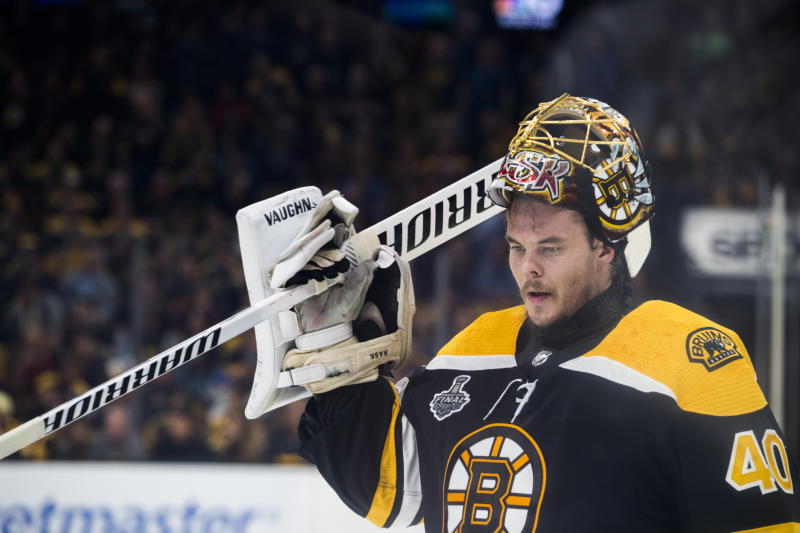 Rask helped the Bruins reach the Stanley Cup Final in 2019. (Photo by Stan Grossfeld/The Boston Globe via Getty Images)