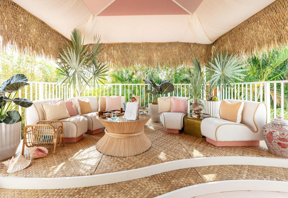 """<p class=""""body-dropcap"""">Nothing screams summer quite like a splash of color, and the designers who decked out this year's fourth annual <a href=""""https://www.kipsbaydecoratorshowhouse.org/palmbeach"""" rel=""""nofollow noopener"""" target=""""_blank"""" data-ylk=""""slk:Kips Bay Decorator Show House Palm Beach"""" class=""""link rapid-noclick-resp"""">Kips Bay Decorator Show House Palm Beach</a> (on view virtually and in-person through May 9) went all in. From <a href=""""https://alexandranaranjo.com/"""" rel=""""nofollow noopener"""" target=""""_blank"""" data-ylk=""""slk:Alexandra Naranjo"""" class=""""link rapid-noclick-resp"""">Alexandra Naranjo</a>'s floral fantasia bathroom and <a href=""""https://ninamagon.com/"""" rel=""""nofollow noopener"""" target=""""_blank"""" data-ylk=""""slk:Nina Magon"""" class=""""link rapid-noclick-resp"""">Nina Magon</a>'s all-pink boudoir, to <a href=""""https://ellenkavanaugh.com/"""" rel=""""nofollow noopener"""" target=""""_blank"""" data-ylk=""""slk:Ellen Kavanaugh"""" class=""""link rapid-noclick-resp"""">Ellen Kavanaugh</a>'s second-story terrace bar that oozes '70s beach club glamour, the entire 4,400-square-foot villa in West Palm Beach, Florida, gives a playful wink to the carefree days of sunshine season. So if you're like us and your wanderlust has hit an all-time high, read on as we take you through our 10 favorite spaces in the beachside fantasy home. Consider it an excuse to celebrate high season early—because we could all use some lazy, hazy summer vibes right now. </p>"""