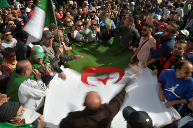 Algerians have been staging weeky anti-government protests despite a ban on large gatherings as part of measures to contain the coronavirus (AFP Photo/RYAD KRAMDI )
