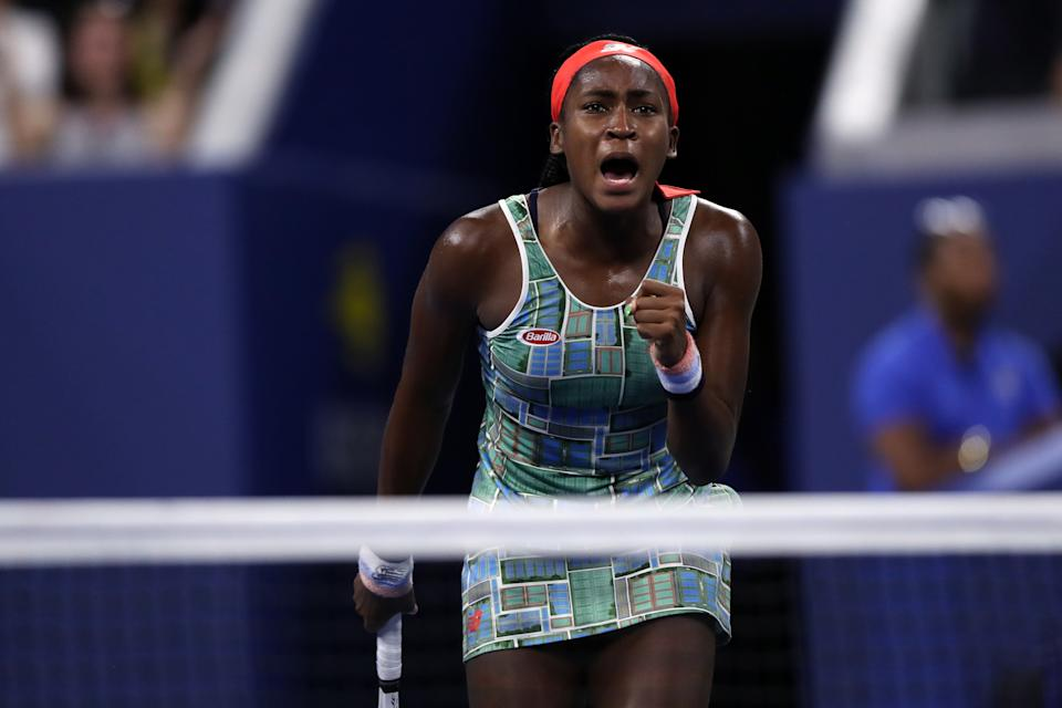 """Cori """"Coco"""" Gauff beat Timea Babos of Hungary on Thursday night to advance to the third round of the US Open in New York."""