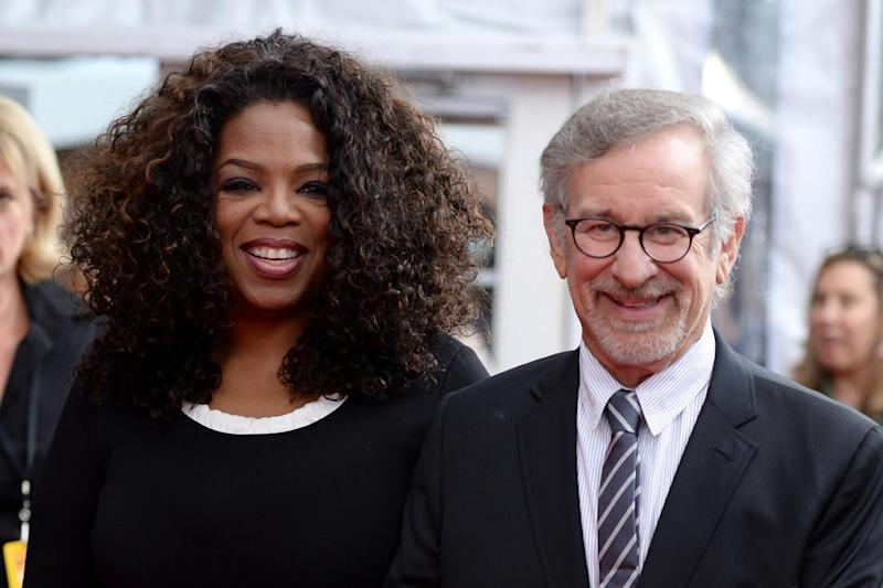 Donation: Oprah Winfrey and Steven Spielberg (Dimitrios Kambouris/Getty Images)