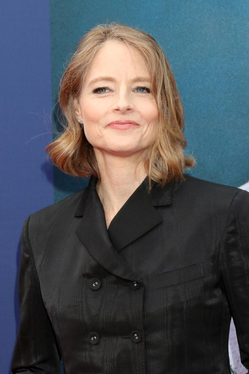 jodie foster on the red carpet