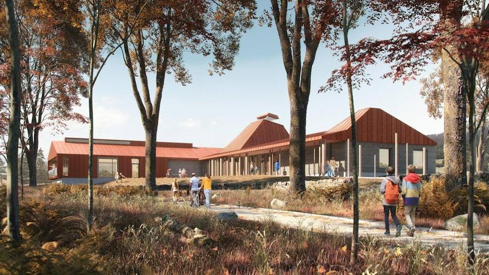 An artist's impression of the Dundreggan Rewilding Centre (Spey/PA)