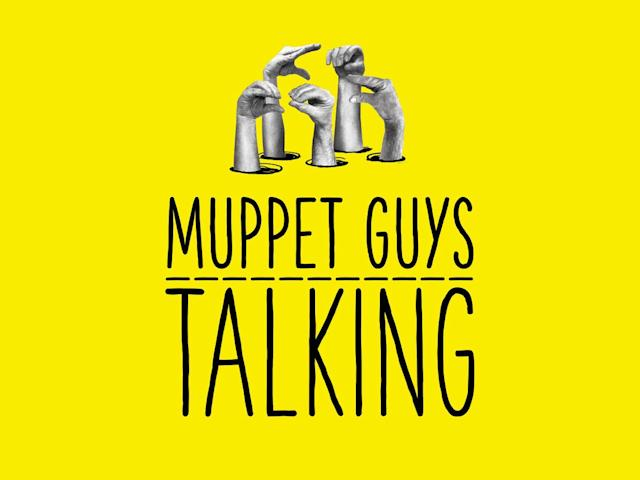 The <em>Muppet Guys Talking</em> poster features the hands of performers Bill Barretta, Fran Brill, Dave Goelz, Jerry Nelson, and Frank Oz (Photo: Vibrant Mud)