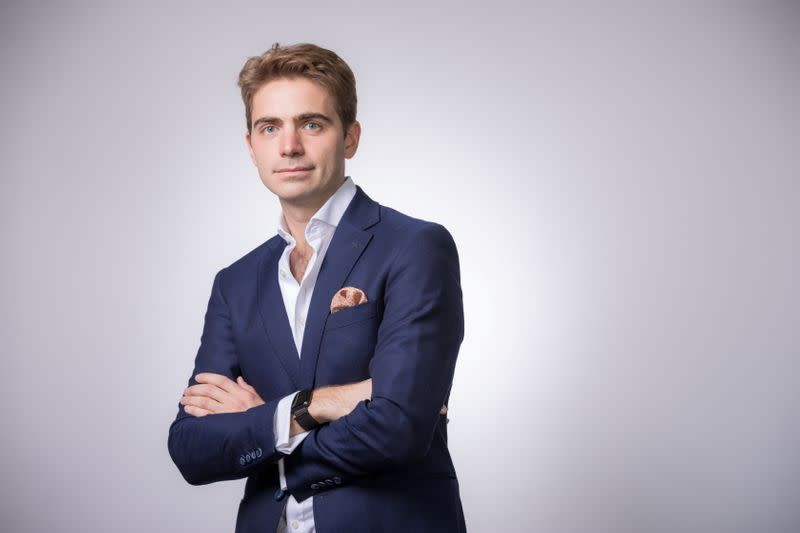 Pierpaolo Barbieri, CEO of Uala, poses for a portrait in Buenos Aires