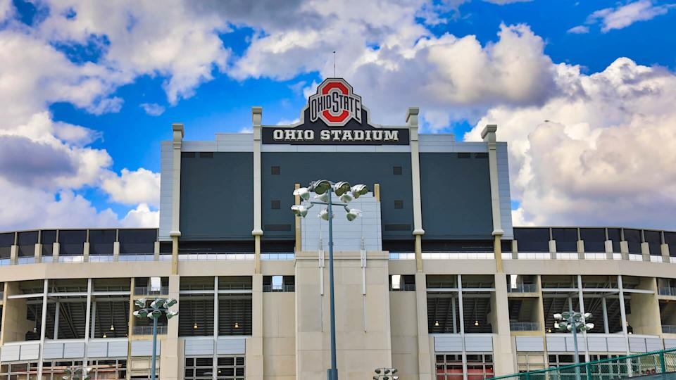 Historic Ohio Stadium, also known as The Shoe or Horseshoe , is located on the Ohio State University campus in Columbus, Ohio.