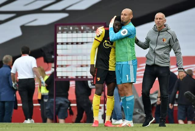 It is all over for Watford (Rui Vieira/PA)