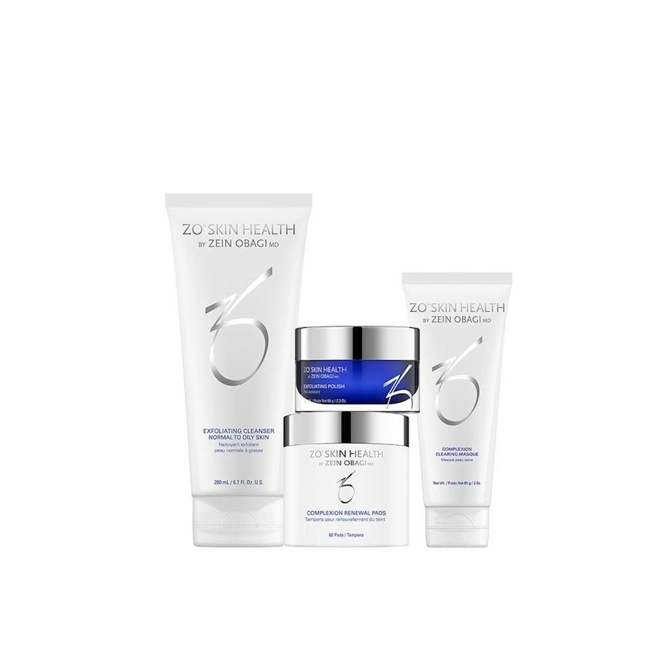 """<p>""""To this day, I'm convinced the ZO Skin Health Complexion Renewal Pads transformed the look of my large pores and dull skin. That's why I'm gifting myself the brand's entire <span>Complexion Clearing Program</span> ($140) this holiday so I can continue to give my skin the exfoliating love it needs. It comes with my favorite Renewal Pads made with exfoliating glycolic acid and the Exfoliating Cleanser, Exfoliating Polish, and Complexion Clearing Masque to rid the skin of impurities, clogged pores, and breakouts."""" - Genesis Rivas, assistant beauty editor, Makeup.com</p>"""