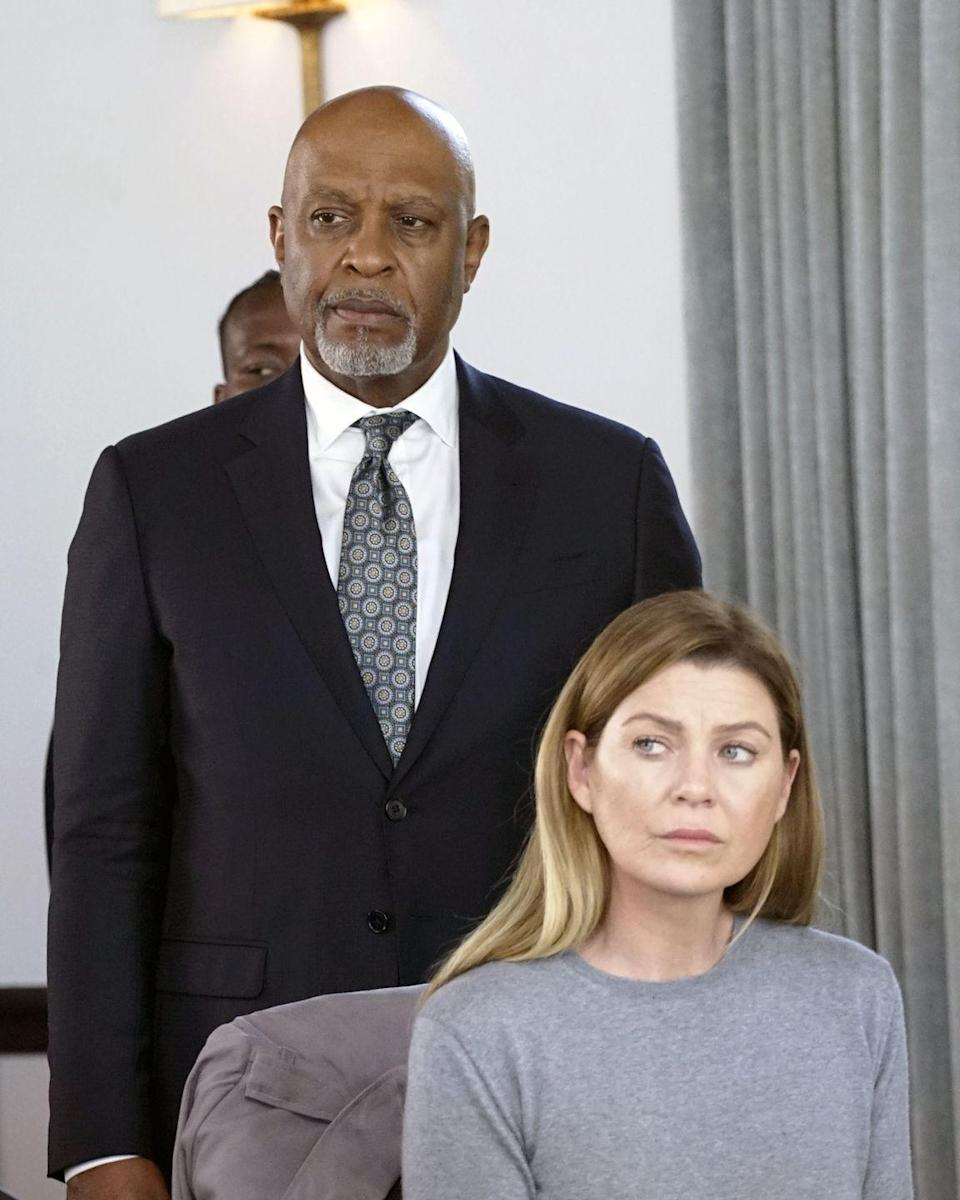 <p>Dr. Webber has moved on from his Chief of Surgery position and now heads up the hospital's Residency Program—a perfect role for the character, who has served as a mentor for so many other characters on the show. Here's Pickens, in character as Webber, in season 16. </p>