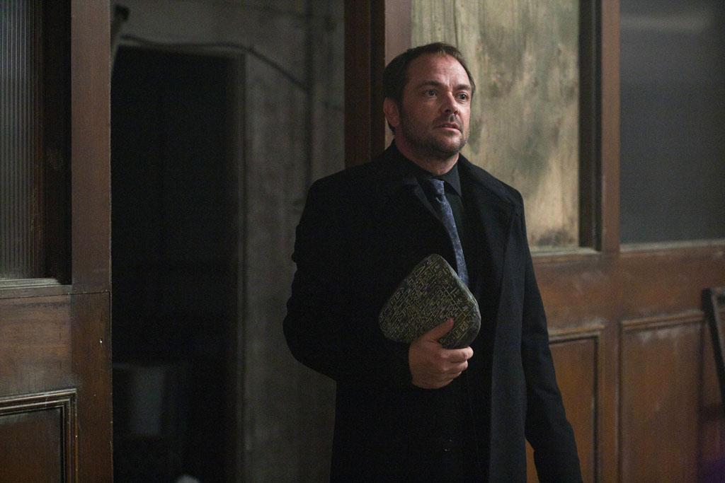 "Mark A. Sheppard as Crowley in the ""Supernatural"" episode, ""What's Up, Tiger Mommy?."""