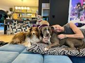 """<p>In February, Miley introduced her new dog pit bull rescue dog Angel to her fans. </p><p>Sharing the news of the latest addition to her family, Miley also paid tribute to her last dog Mary Jane:</p><p> """"I am head over heels in love. Not sure I will ever sleep again because I can't take my eyes off of her! Her halo shines for all to see and I can't wait to show her off! It's pretty cool having an Angel on a leash! She is illuminated by the aura of the late and great Mary Jane. Long live love. It never dies.""""</p><p><a href=""""https://www.instagram.com/p/CLlMpauJ5Z6/?utm_source=ig_embed"""" rel=""""nofollow noopener"""" target=""""_blank"""" data-ylk=""""slk:See the original post on Instagram"""" class=""""link rapid-noclick-resp"""">See the original post on Instagram</a></p>"""