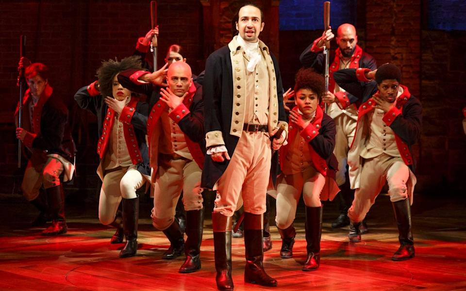 'Everything that's not in the show is fair game to point out': Lin-Manuel Miranda starring as Hamilton in New York - Joan Marcus