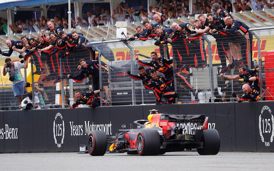 Max Verstappen won a chaotic German Grand Prix to take his second win of the season - REUTERS