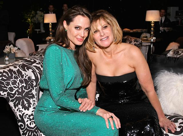 Angelina Jolie and Sony Pictures Entertainment Co-Chairman Amy Pascal attend the Sony Pictures Classic 68th Annual Golden Globe Awards Party, 2011. (Neilson Barnard/Getty Images)