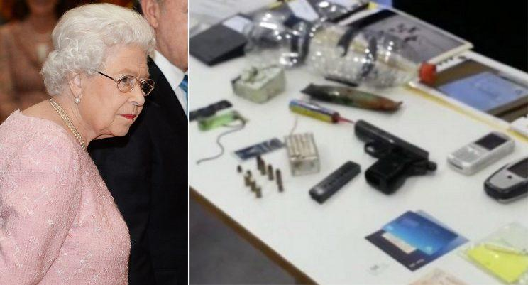 A man has been jailed after planting a bomb on a Dublin-bound bus the night before a visit from the Queen, and threatening to attack the monarch at a state banquet.