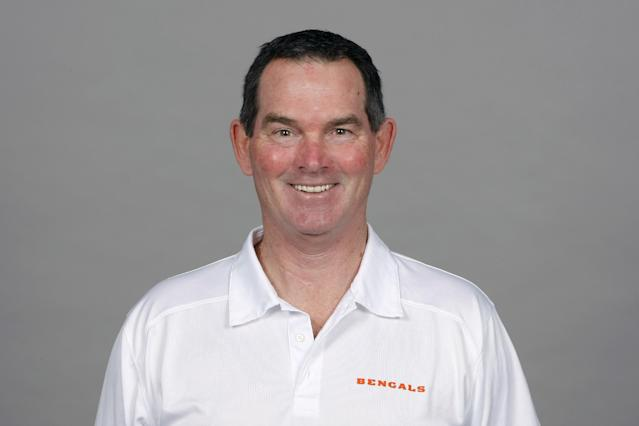 FILE - This is a 2013 file photo showing Mike Zimmer of the Cincinnati Bengals NFL football team. The Minnesota Vikings have chosen Zimmer as their new head coach, according to multiple media reports. Zimmer will replace Leslie Frazier, who was fired after the team finished 5-10-1 this season. (AP Photo/File)