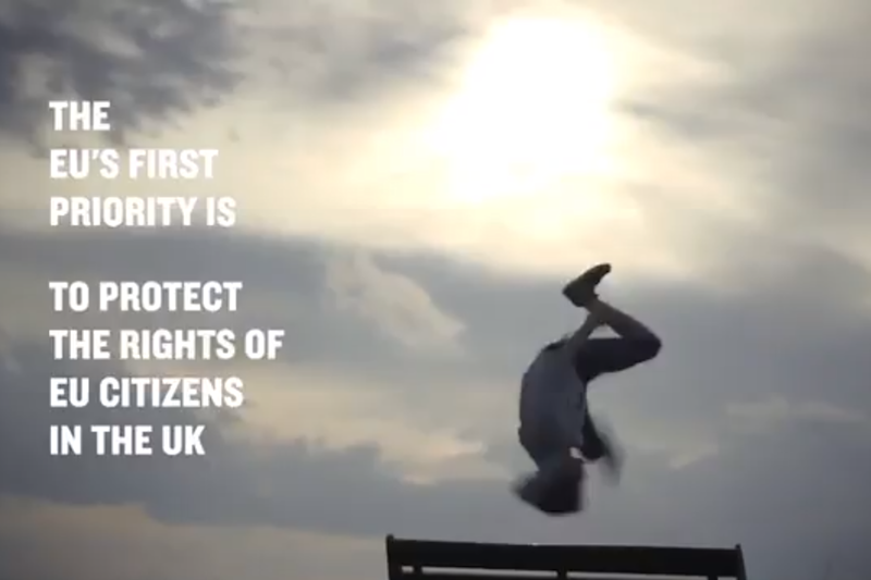 A screenshot from the European Commission's video