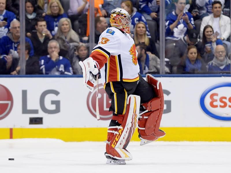 Rittich's 35-save performance powers Flames past Leafs 2-1 in a shootout