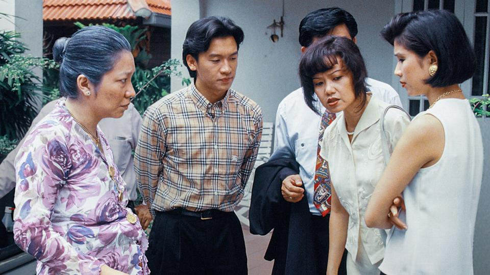 Singapore's first local English-language TV drama series Masters of the Sea starred (from left) Margaret Chan, Ng Chin Han, Nora Samosir and Wong Li-lin.