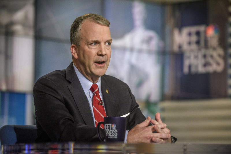 Sen. Dan Sullivan (R-Alaska) in July. (NBC NewsWire via Getty Images)