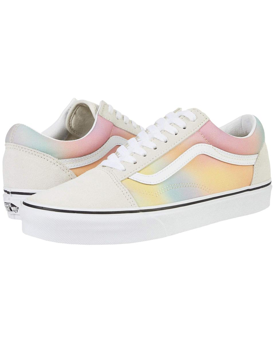 """<p><strong>Vans</strong></p><p>zappos.com</p><p><strong>$47.99</strong></p><p><a href=""""https://go.redirectingat.com?id=74968X1596630&url=https%3A%2F%2Fwww.zappos.com%2Fp%2Fvans-old-skool-aura-shift-multi-true-white%2Fproduct%2F7166039&sref=https%3A%2F%2Fwww.cosmopolitan.com%2Fstyle-beauty%2Ffashion%2Fg32600849%2F21st-birthday-gift-ideas%2F"""" rel=""""nofollow noopener"""" target=""""_blank"""" data-ylk=""""slk:Shop Now"""" class=""""link rapid-noclick-resp"""">Shop Now</a></p><p>Everyone should have a comfy, classy pair of sneaks in their closet, but a birthday girl deserves to wear ~mesmerizing~ shoes on her feet.</p>"""
