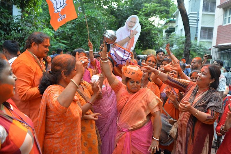 BJP supporters said their enthusiasm for the leader had only increased (AFP Photo/DIPTENDU DUTTA)