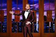 """<p>On his late night TV show, James Corden might make celebrities eat the occasional salmon milkshake in the popular """"Spill Your Guts or Fill Your Guts"""" segment, but the host also got his start serving more traditional plates in the restaurant industry. </p><p>He told <em><a href=""""https://www.youtube.com/watch?v=T9renrpO1xI&list=PL0hKMB1-xkc9hWRpmI4BxOq_AYWrWenNP&index=1"""" rel=""""nofollow noopener"""" target=""""_blank"""" data-ylk=""""slk:GQ"""" class=""""link rapid-noclick-resp"""">GQ</a></em> that he worked at an Italian restaurant called Bella Pasta and admits that he used to steal booze from his job as a way to get himself invited to house parties when he and his friends were still underage. He got caught when he tried to walk out one shift with 50 bottles of beer, but his boss needed him to work the next day, so he didn't get fired.</p>"""