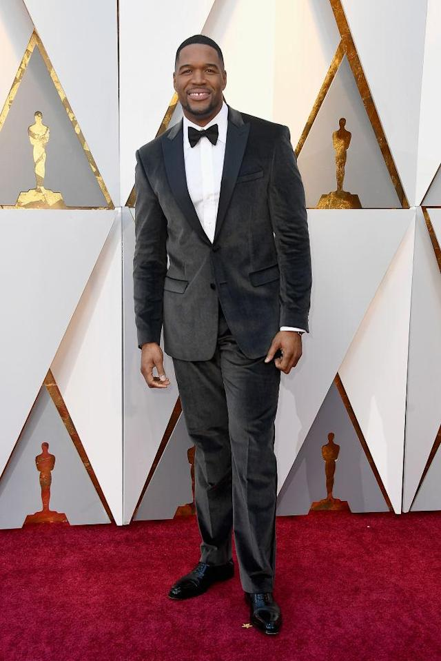 <p>Michael Strahan attends the 90th Academy Awards in Hollywood, Calif., March 4, 2018. (Photo: Getty Images) </p>