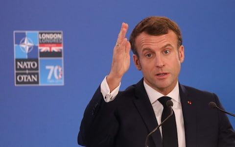 Emmanuel Macron led criticism of Turkey at the summit - Credit: LUDOVIC MARIN/AFP via Getty Images