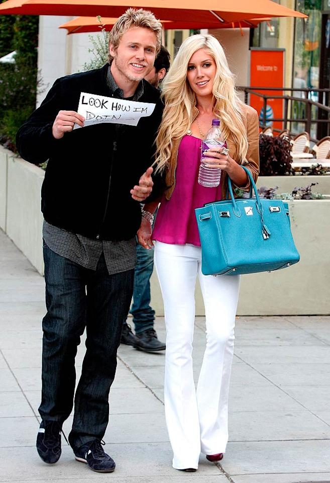 """Meanwhile, Audrina's """"Hills"""" costars Spencer Pratt and Heidi Montag continued their relentless self-promotion. Next up for the couple? Competing on """"I'm a Celebrity, Get Me Out of Here,"""" alongside """"American Idol"""" reject Sanjaya Malakar, and potentially ousted Illinois governor Rod Blagojevich. <a href=""""http://www.x17online.com"""" target=""""new"""">X17 Online</a> - April 15, 2009"""